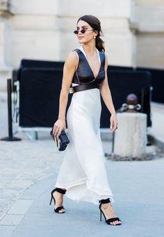 Paris Fashion Week Haute Couture street style: slip dress