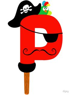 Sticker 'P is for Pirate' par digsy Q Crafts For Preschool, Abc Crafts, Preschool Letters, Preschool Themes, Numbers Preschool, Letter P Activities, Indoor Activities, Alphabet Letter Crafts, Pirate Crafts