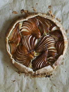 A rustic free-form tart, with pears fanned across a layer of frangipane. Get the recipe from the Williams-Sonoma Thanksgiving Brochure: http://www.williams-sonoma.com/thanksgiving2015
