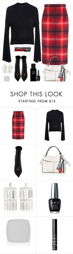 """""""Retour Au Travail!"""" by sereneowl ❤ liked on Polyvore featuring Adeam, Proenza Schouler, Yves Saint Laurent, OPI, Isabel Lennse and NARS Cosmetics"""