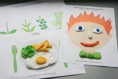 """[ACTIVITÉS A TÉLÉCHARGER] 12 planches d'activités """"Pâte à modeler"""" http://bit.ly/1xwpMhB > dessiner un visage, habiller un personnage, créer des aliments et composer une assiette... Que de bons prétextes pour s'amuser et exercer sa motricité fine !"""