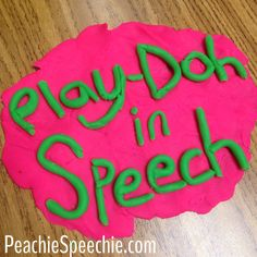 Ways to use playdough in speech therapy.