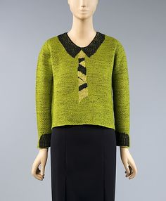 Sweater Elsa Schiaparelli, 1930s The Metropolitan Museum of Art - OMG that dress!