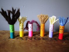 Marker cap finger puppets! This is why I'm keeping all those marker caps. Extra time idea?