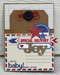 Welcome Baby! Card by Kim Holmes via Jillibean Soup Blog