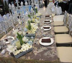 Kasalang Filipino sa Davao held last July 19-21, 2013 at the Ayala Abreeza Mall, Davao City. ♥ Filipino, Table Settings, Place Settings, Tablescapes
