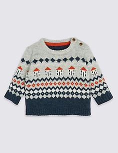 Shop All baby boys at Marks and Spencer . For versatile All baby boys with classic styling and contemporary elegance, visit Marks and Spencer Kids Knitting Patterns, Knitting For Kids, Funky Fashion, Kids Fashion, Bjd, Knit World, Christmas Sweaters, Knitwear, Jumper