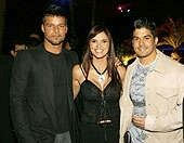 Jerry junto a Ricky Martin y Raschel Díaz