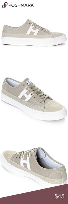 3321430026 HUF Hupper 2 Lo Gray  amp  White Skate Shoes Men s Hupper 2 Lo Black and