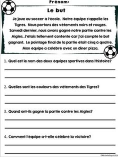 Compréhensions de lecture - 20 textes - French Reading Com French Flashcards, French Worksheets, French Language Lessons, French Language Learning, Foreign Language, French Lessons For Beginners, French Basics, High School French, French Online