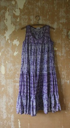 vintage. 70s Indian Cotton Gauze Dress  //  Rare by styleforlife