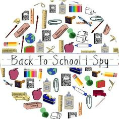 Back to School I Spy Game - free printable! #newteachers #backtoschool