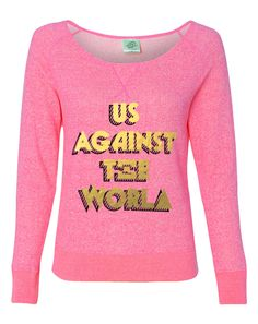 Alpha Xi Delta Us Against The World Pullover. yes.