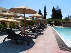 Pool Area 4 Small Entrance, Pool Bar, Garden Pool, Corfu, Gardens, Patio, Places, Outdoor Decor, Outdoor Gardens