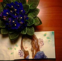 #instaart #artsy #workofart #speedpaint #sketch #watercolor #traditionalart #fun #portraits #girl #beautiful #instaflowers #chineseprimrose #sketchbook #blueviolet #aartistic_dreamers #instapicture #instagood