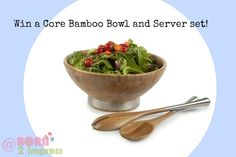 Win a beautiful and stylish bamboo and server set from #CoreBamboo. Perfect for the #Holidays.   http://blog.born2impress.com/beautiful-stylish-core-bamboo-bowl-server-set-giveaway/