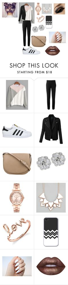 """""""Untitled #81"""" by iuliamariacristea ❤ liked on Polyvore featuring Chloé, adidas, LE3NO, CÉLINE, Michael Kors, Full Tilt, Sydney Evan and Lime Crime"""