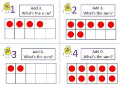 Ten Frame Task Cards: Perfect for math stations.  {Number recognition, basic addition facts, counting on, and subitizing} Using manipulatives and ten frames will reinforce students' understanding of the concepts. The answer key provides an instant self-check for students, and the student recording sheet adds accountability for this math station. $