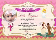 Baptism Christening personalized custom Invitation #Unbranded #Baptism