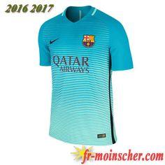 Les Nouveaux Maillot FC Barcelone Barca Third Bleu 2016/2017: fr-moinscher