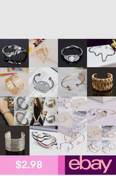 Bracelets Jewelry & Watches Metal Bracelets, Bangle Bracelets, Bangles, Cuff Jewelry, Jewelry Watches, Place Card Holders, Womens Fashion, Silver, Gold