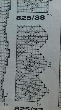 Filet Crochet, Crochet Diagram, Lace Border, Fair Isle Knitting, Filets, Crochet Projects, Diy And Crafts, Cross Stitch, Pattern