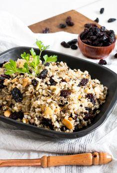 Receta de arroz aromático con pasitas de california Great Recipes, Dinner Recipes, Favorite Recipes, Tapas, Recipe Link, Recipe Community, Ground Beef, Crockpot Recipes, Acai Bowl
