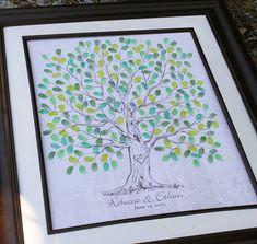 Boda árbol personalizado los libro regalo mano por fancyprints