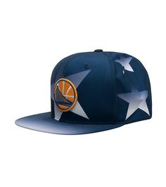 MITCHELLS+NESS+Golden+State+Warriors+logo+Adjustable+strap+in+back+for+ultimate+comfort+6+psnel+design+Awards+ceremony+edition+Stars+detail+throughout+hat+NBA+Basketball