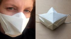 origami and kirigami Instruções Origami, Origami And Kirigami, Paper Crafts Origami, Origami Rose, Oragami, Diy Mask, Diy Face Mask, Face Masks, Diy Papier