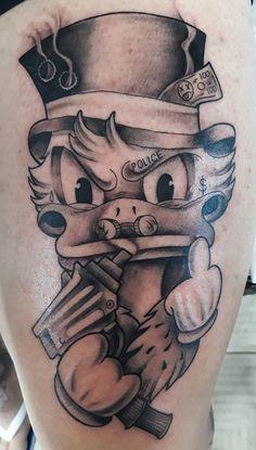 Drake Tattoos, Gangsta Tattoos, 13 Tattoos, King Tattoos, Black Tattoos, Body Art Tattoos, Tattoo Drawings, Cartoon Tattoos, Funny Tattoos