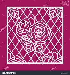 stock-vector-laser-cut-square-ornamental-panel-with-pattern-of-roses-template-of-wedding-invitation-or-greeting-537230584.jpg (1500×1600)
