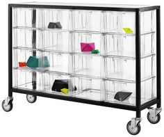 Clear Chest of drawers Black / Transparent by Nomess - Design furniture and decoration with Made in Design