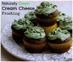 Delicious Green Frosting! www.satisfyingeats.com