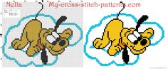 Baby Pluto on the cloud cross stitch pattern free