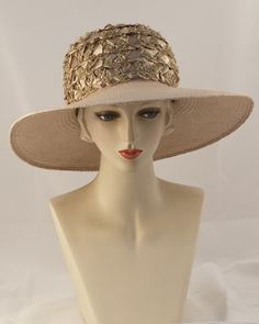 0987JO Josephine, braid crown/Panama brim, mink