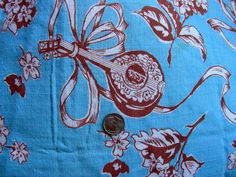 Vintage Novelty Feedsack Flour Sack Cotton Fabric //   by anne8865