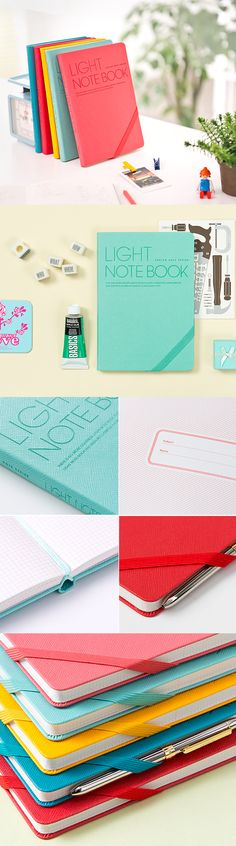 The beautiful colors of the Light Grid Notebook are sure to bring a smile to your face. :) This notebook features a grid style layout that makes it extra versatile! Use it at school or work to take notes. It's also the perfect notebook to use as a journal, scrapbook, or recipe book -- the possibilities are endless! As an added bonus, this notebook has a ribbon bookmark as well as an elastic band to mark your place and keep the whole thing together! See all the bright colors for yourself…
