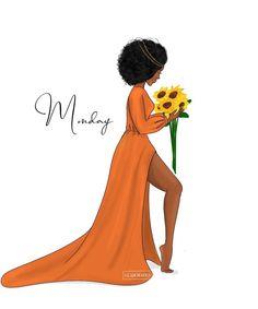 Black Girl Quotes, Black Girl Art, Black Women Art, Black Girl Magic, Black Love, Black Is Beautiful, Drawings Of Black Girls, Monday Monday, Black Art Pictures