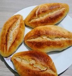 Ekmek tarifi deneyenlerden sonuç   Kadınca Fikir - Kadınca Fikir Hot Dog Buns, Hot Dogs, Hamburger, Food And Drink, Bread, Foods, Drinks, Breakfast, Food Food