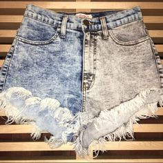 Vibrant | high waisted jean shorts Super soft high waisted Jean shorts, a lot of west left in them!!No trades make me an offer!!!!  Shorts Jean Shorts