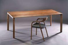 Artisan - Tisch Neva Dining Table Design, Solid Wood Dining Table, Dining Table Chairs, Wood Table, Hardwood Furniture, Solid Wood Furniture, Table Furniture, Custom Made Furniture, Furniture Design