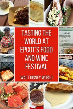 Tasting the world at Epcot's Food and Wine Festival: Walt Disney World, Orlando, Florida #foodandwine #disney #epcot #themeparks #orlando #wine #food