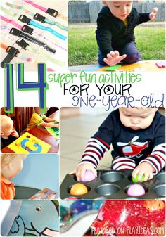 These 14 fun activities for your 1 year old