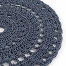 * Crochet gestrickt Teppiche  gehäkelten gemacht. * Teppich in Graphit navy blue   Bei der Herstellung von Bindfäden Dicke von 5 mm verwendet verleiht dem Teppich Massivität   Das Produkt wird...