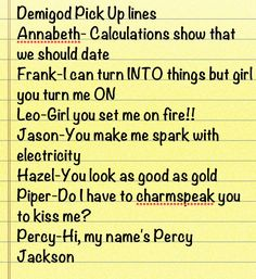 Ask the demigods…Percy's is true okay?               Nico: ... I'm the doctor.