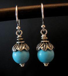 a456741bc Sleeping Beauty Turquoise Earrings, Sleeping Beauty Turquoise Jewelry, Rare  Stone Earrings, Blue Gemstone Earrings, Blue Gemstone Jewelry Handmade