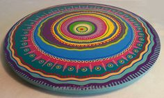 Lazy+Susan+6+Hand+Painted+18+Diameter++Mandala+by+LisaFrick,+$160.00
