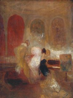 Joseph Mallord William Turner, Music Party, East Cowes Castle (ca. 1835)