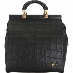 Givenchy Croc-Stamped HDG Structured Tote at Barneys.com